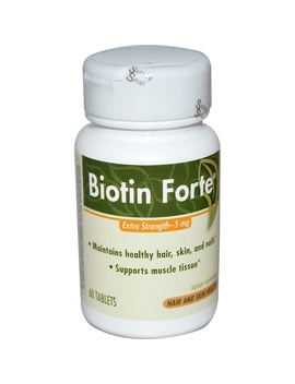 Enzymatic Therapy, Biotin Forte, Extra Strength, 5 Mg, 60 Tablets by Enzymatic Therapy