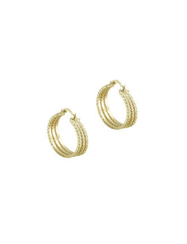 The Three Row Essential Hoops by The M Jewelers Ny
