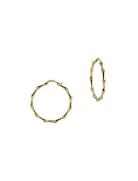 The Small Bamboo Hoops by The M Jewelers Ny