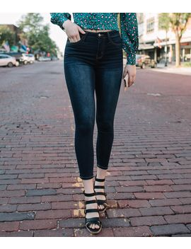 Curvy High Rise Ankle Skinny Jean by Bridge By Gly