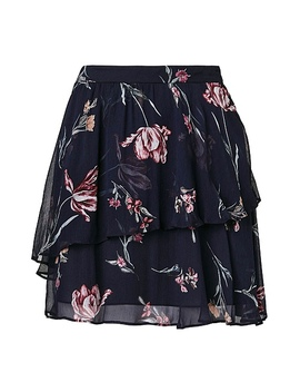 Layered Print Skirt by Witchery