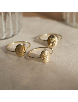 Hand Gestures Ring by Gldn