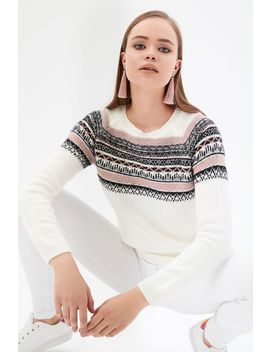 Ivory Fairisle Jumper by Select