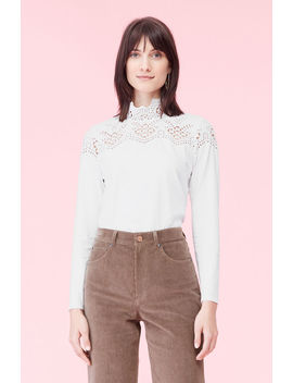 La Vie Embroidered Jersey Top by Rebecca Taylor