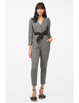 Tailored Herringbone Jumpsuit by Rebecca Taylor