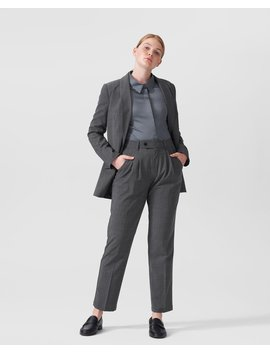 Silvia Slim Cut Wool Trousers 29 Inch by Universal Standard