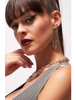 Oversized Safety Pin Earrings by Jaded London