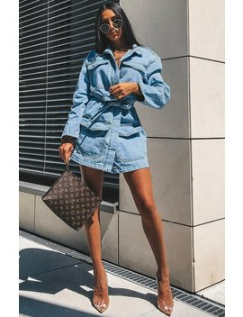 Charlize Shirt Dress    Light Denim by Babyboo Fashion