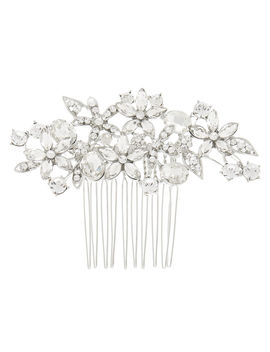 Silver Rhinestone Bouquet Hair Comb by Claire's