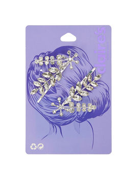 Silver Leaf Bobby Pins   2 Pack by Claire's