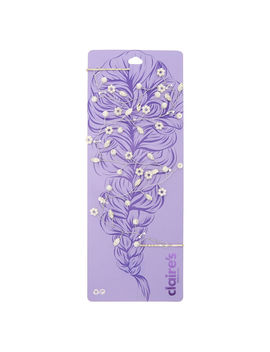 Long Silver Pearl Hair Vine by Claire's