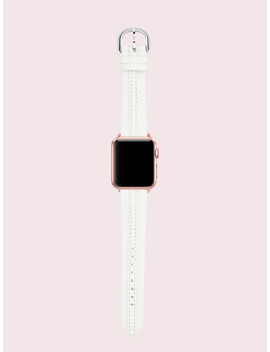 White Leather 30/40mm Apple Watch® Strap by Kate Spade