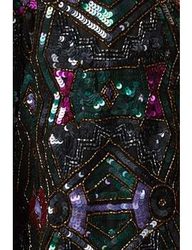 Little Mistress Luxury Leomie Deco Hand Embellished Sequin Jacket by Little Mistress