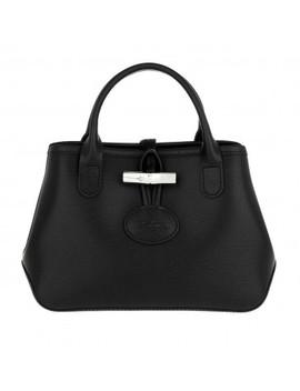 Roseau Crossbody Bag Leather Black by Longchamp