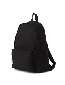 Water Repellent Organic Cotton Rucksack With Side Zip Pc Pocket by Muji