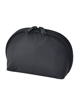 Nylon Round Pouch With Wide Opening by Muji