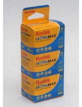 Kodak Ultramax 400asa Cheap Colour Film 35mm 36exp 3 Pack Expiry Date 05/2020 by Kodak