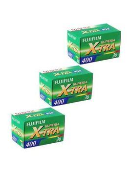 3 Pack Fuji Superia X Tra 400 Asa 135 36 35mm Colour Print Film   Extra Value! by Fujifilm