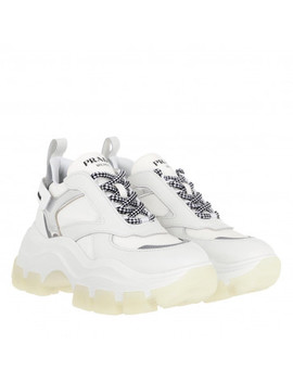 Big Sole Sneaker White/Silver by Prada