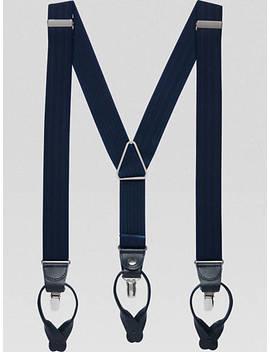 Egara Navy Diamond Convertible Suspenders by Egara