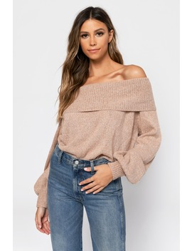 Betty Black Off Shoulder Sweater by Tobi