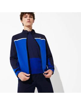 Men's Sport Color Blocked Lightweight Stretch Zip Jacket by Lacoste