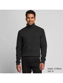 men-middle-gauge-knit-turtleneck-jumper-(1) by uniqlo