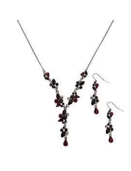 Hematite Y Neck Jewellery Set   Red, 2 Pack by Claire's