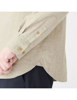 Yak Mix Cotton Double Woven Flap Pocket Shirt by Muji