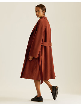 Double Face Trapeze Coat by Jigsaw