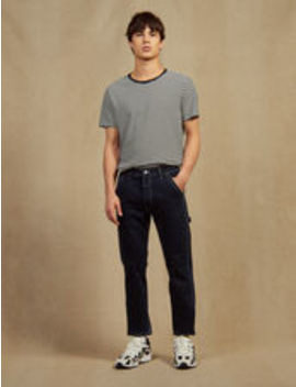 Denim Pants With Topstitching by Sandro Eshop