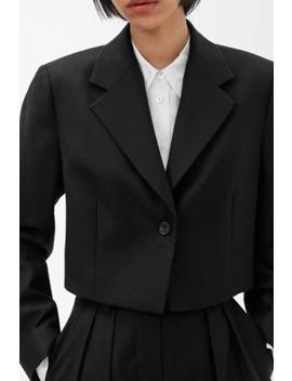 Wool Flannel Cropped Blazer by Arket