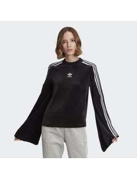 Flared Sleeve Velour Sweatshirt by Adidas