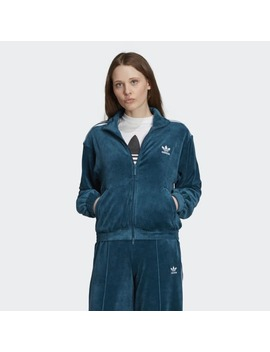 Velour Track Jacket by Adidas
