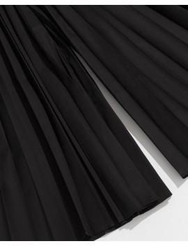 Black Pleated Keira Pant by Khaite