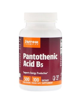 Jarrow Formulas, Pantothenic Acid B5, 500 Mg, 100 Veggie Caps by Jarrow Formulas