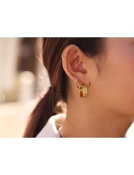Gold Mini Hoop Trio Earring Set by Missoma