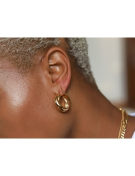 Gold Chunky Entwine Earring Set by Missoma