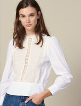 Top With Lace Panel by Sandro Eshop