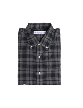 Everyday Flannel   Grey Plaid by Peter Manning