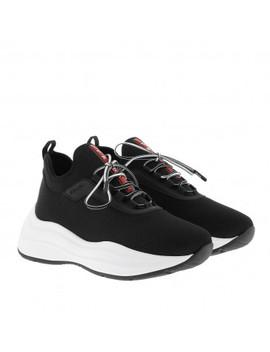 Mesh Sneakers Black/White by Prada