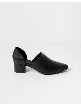 Black Perf Hi Ankle Boots by Intentionally Blank