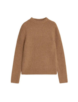 Crew Neck Ribbed Jumper by Arket
