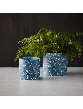 Terrazzo Cylinder Planter by Terrain