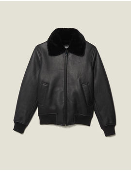 Shearling Jacket by Sandro Eshop
