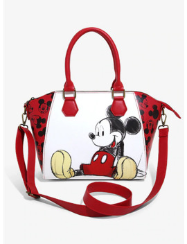 Loungefly Disney Mickey Mouse Sketch Satchel Bag by Her Universe