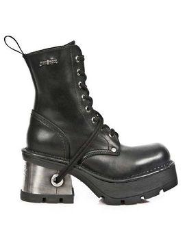 New Rock Nr M.8355 S1 Black   Boots, Metallic, Women by New Rock