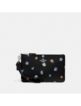 Small Wristlet With Vintage Rosebud Print by Coach