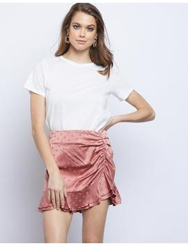Rae Ruched Mini Skirt by 2020 Ave