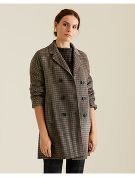 Double Face Tweed Short Coat by Jigsaw